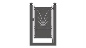 cancello pedonale monoblocco scorrevole