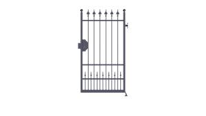 cancello pedonale solo anta scorrevole