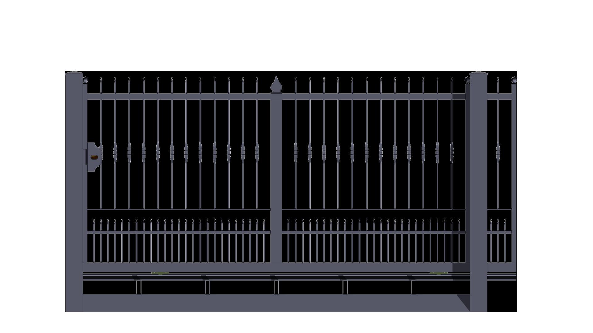 Forgiafer cancelli e recinzioni in ferro battuto for Cancello scorrevole monoblocco